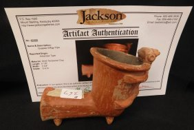 Quapaw Effigy Pipe w/Jackson COA