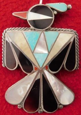 Zuni Thunderbird Pin or Pendant