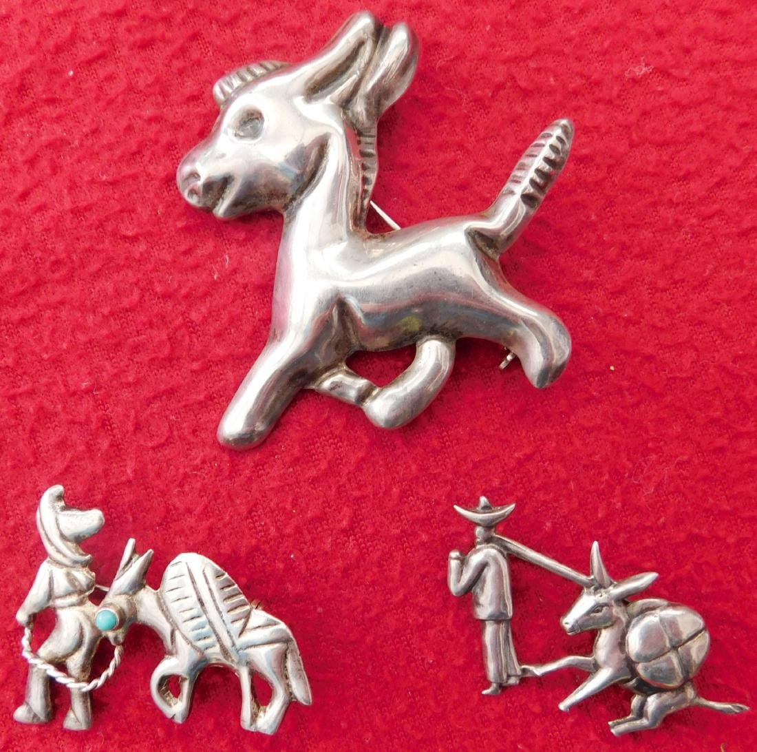 Sterling Mexican Donkey Pin Group
