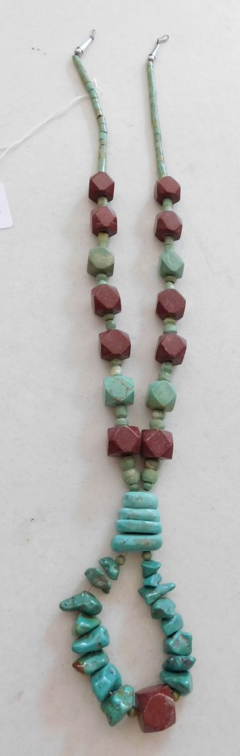 Turquoise & Pipestone Necklace