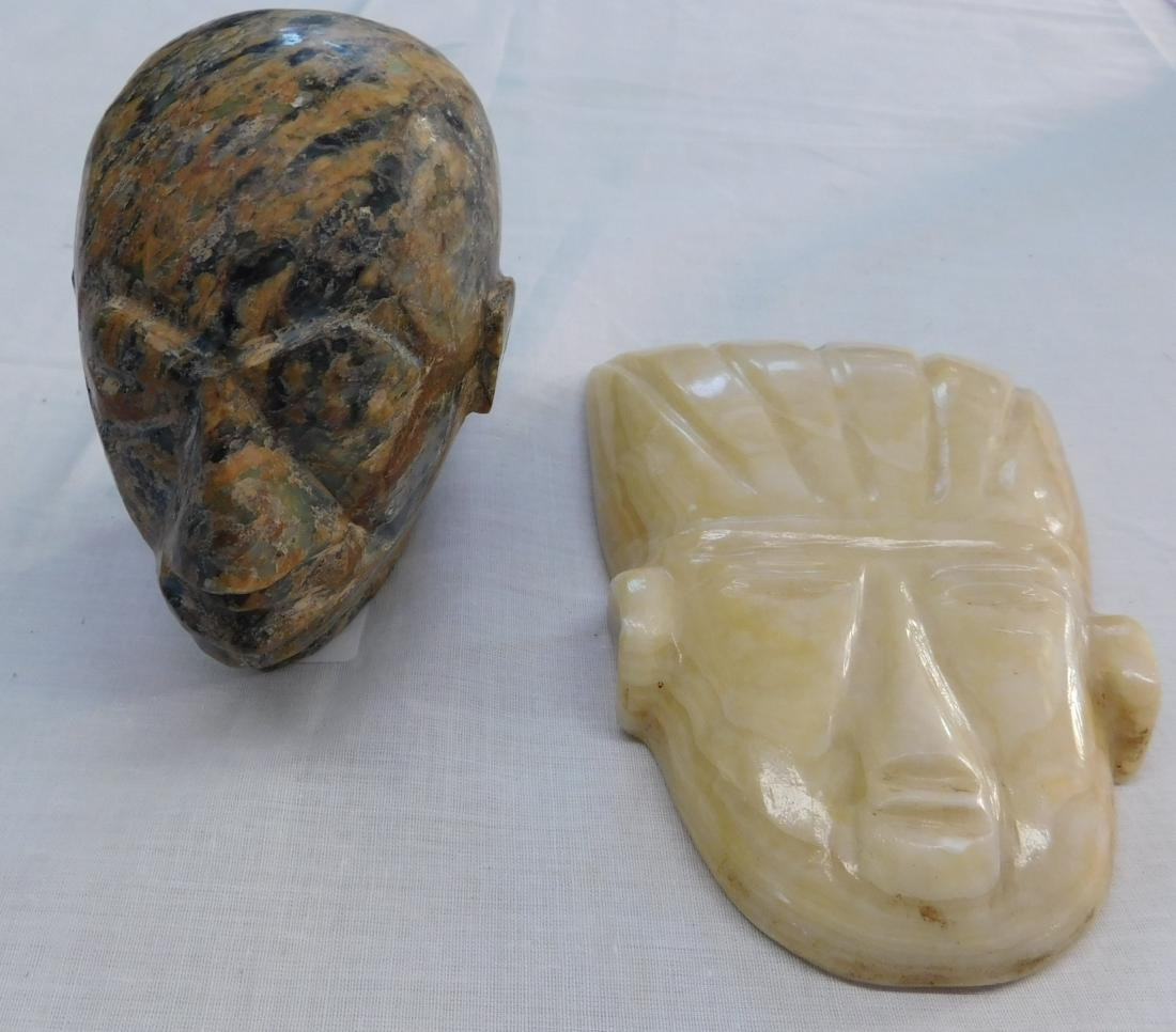 2 Stone Effigy Heads