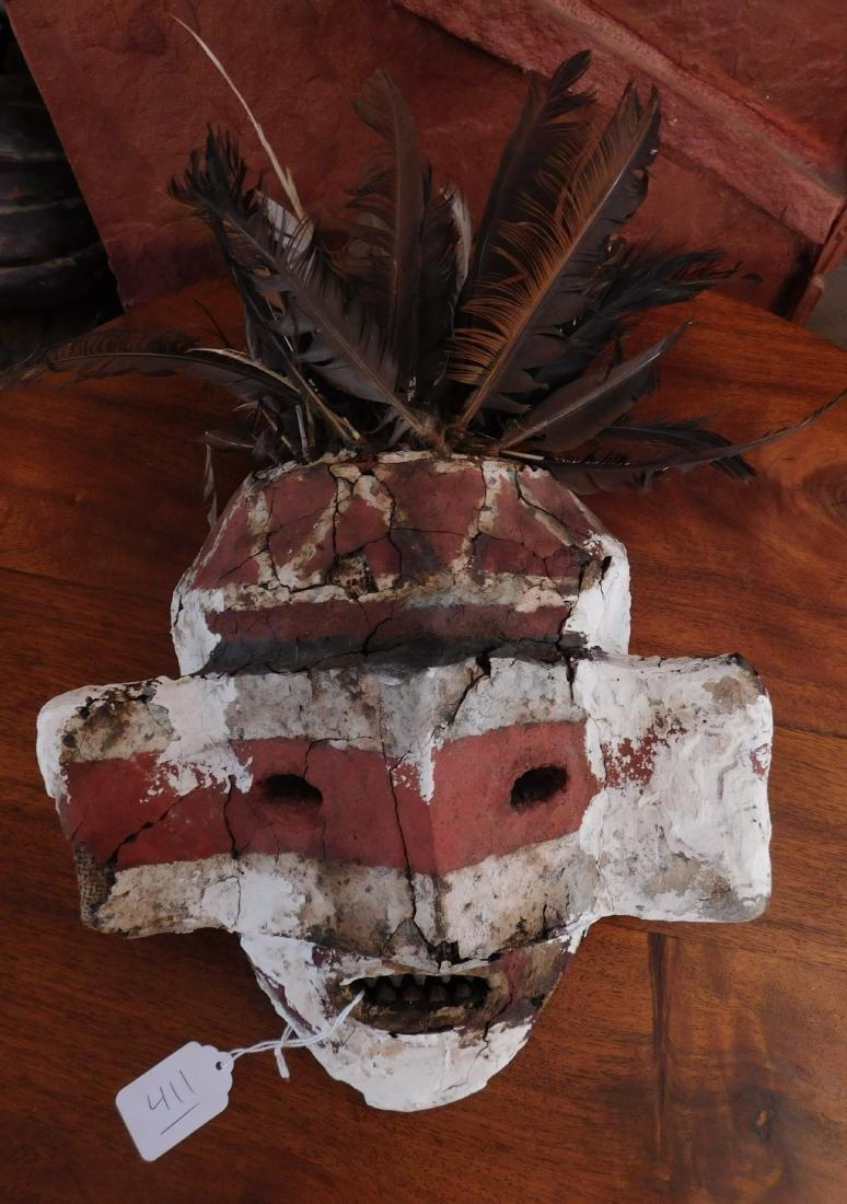 African Fiber Mask w/Stucco