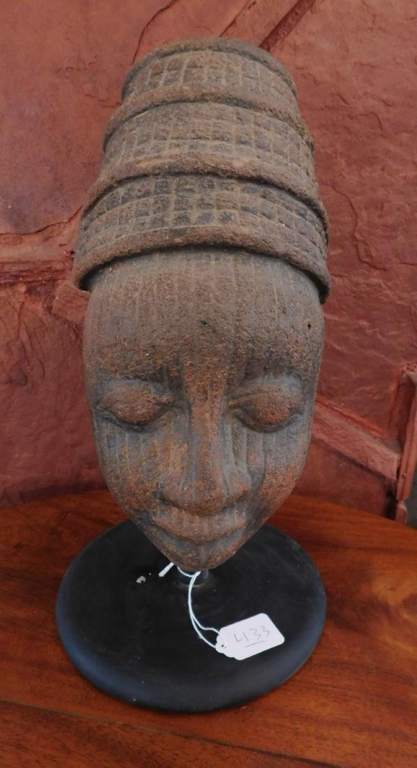 African Ceramic Head