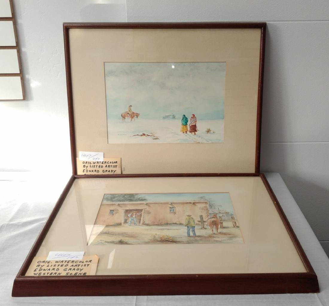 2 Original Framed Watercolors