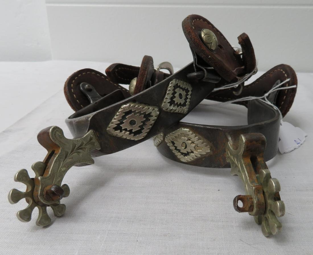 Fancy Pair of Spurs w/Silver