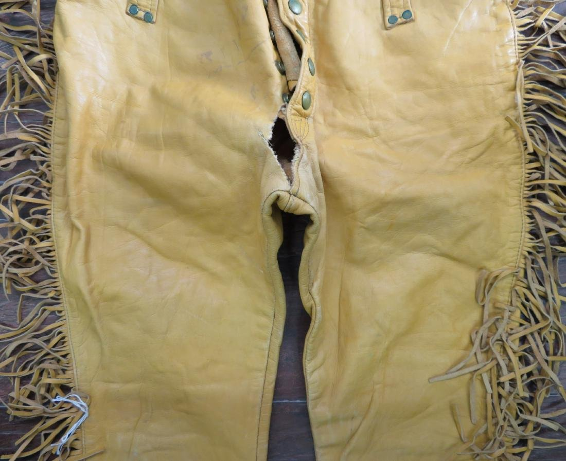 Buckskin Fringed Pants - 3