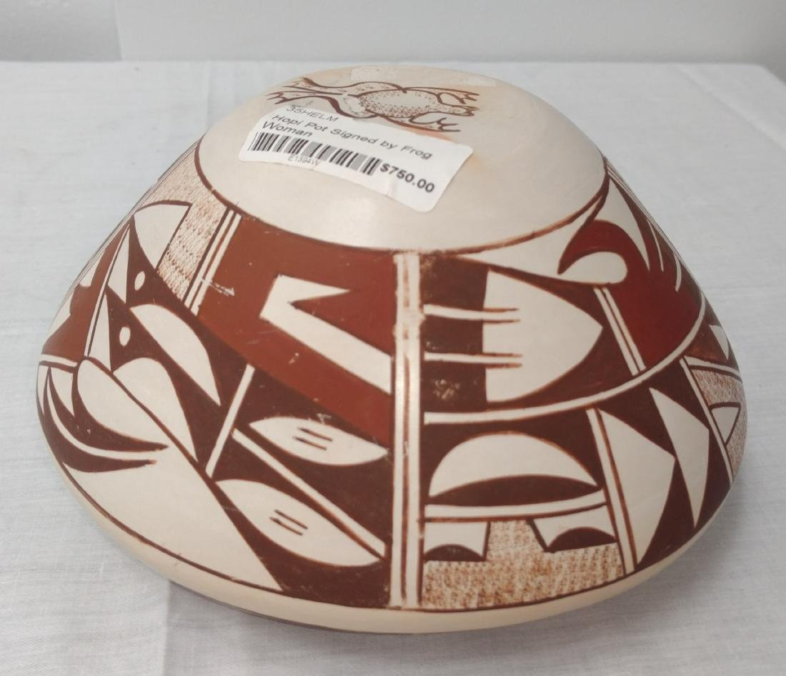 Hopi Frog Woman Pot - 9