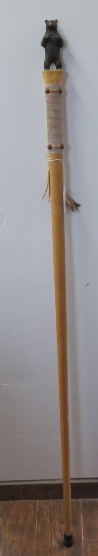 Bear Effigy Walking Stick