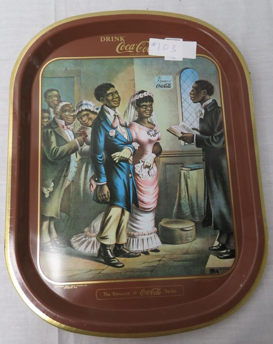 Black Memorabilia Coca-Cola Tray