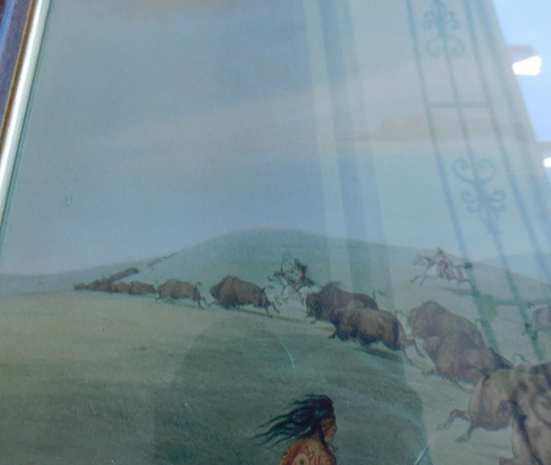Framed George Catlin Print - 3