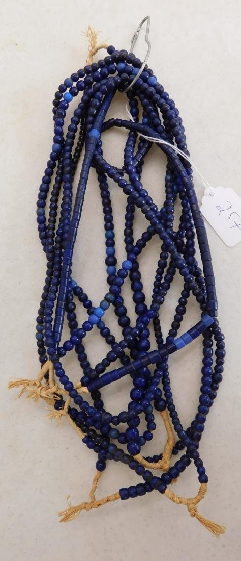 7 Strands Cobalt Blue Trade Beads