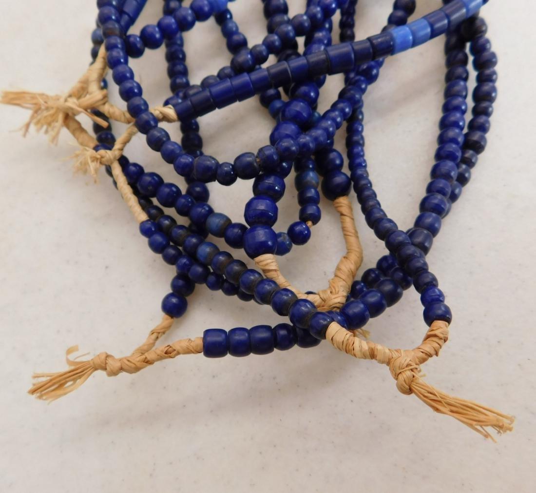 7 Strands Cobalt Blue Trade Beads - 2