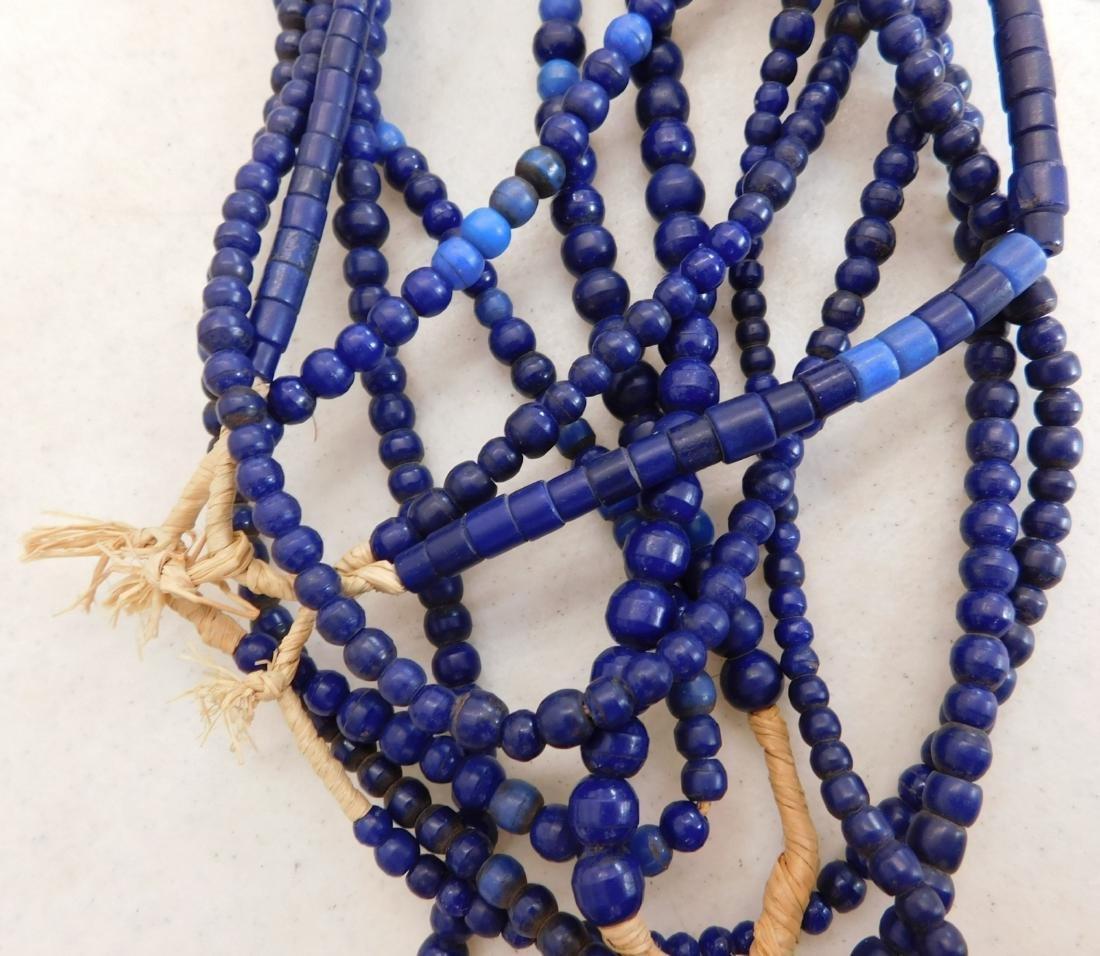 7 Strands Cobalt Blue Trade Beads - 3