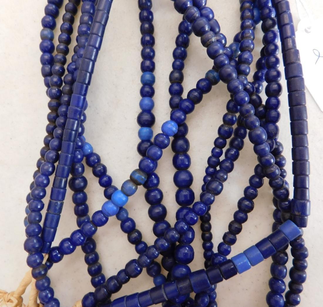 7 Strands Cobalt Blue Trade Beads - 4