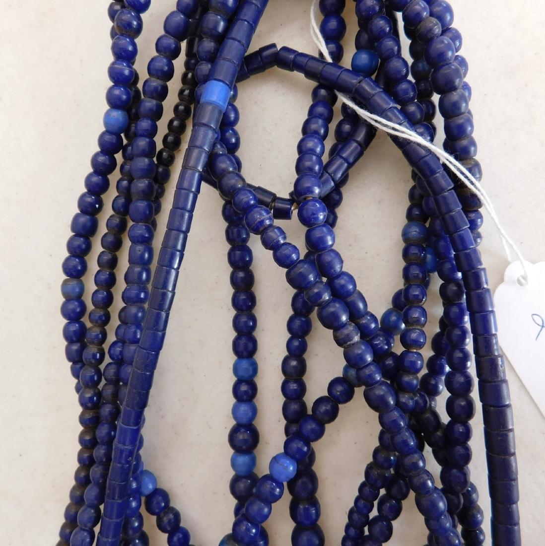 7 Strands Cobalt Blue Trade Beads - 5