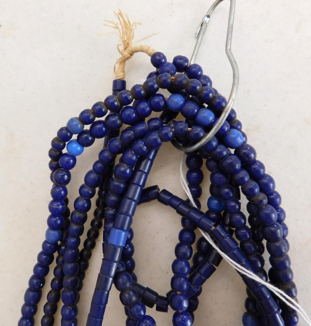 7 Strands Cobalt Blue Trade Beads - 6