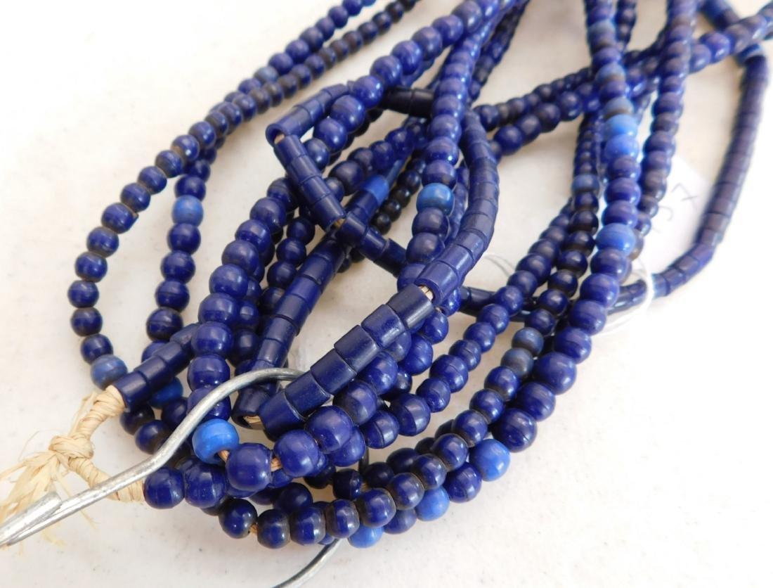 7 Strands Cobalt Blue Trade Beads - 7