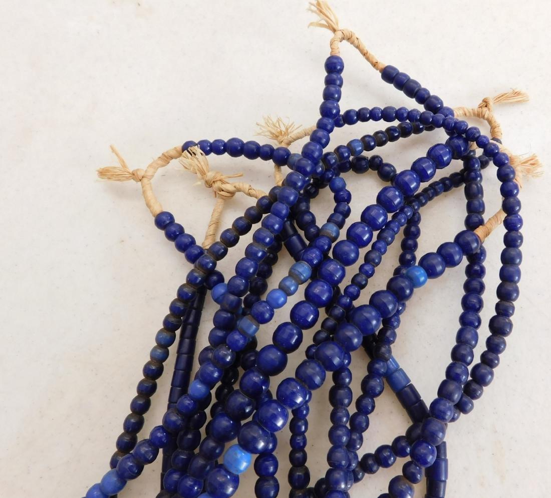 7 Strands Cobalt Blue Trade Beads - 9