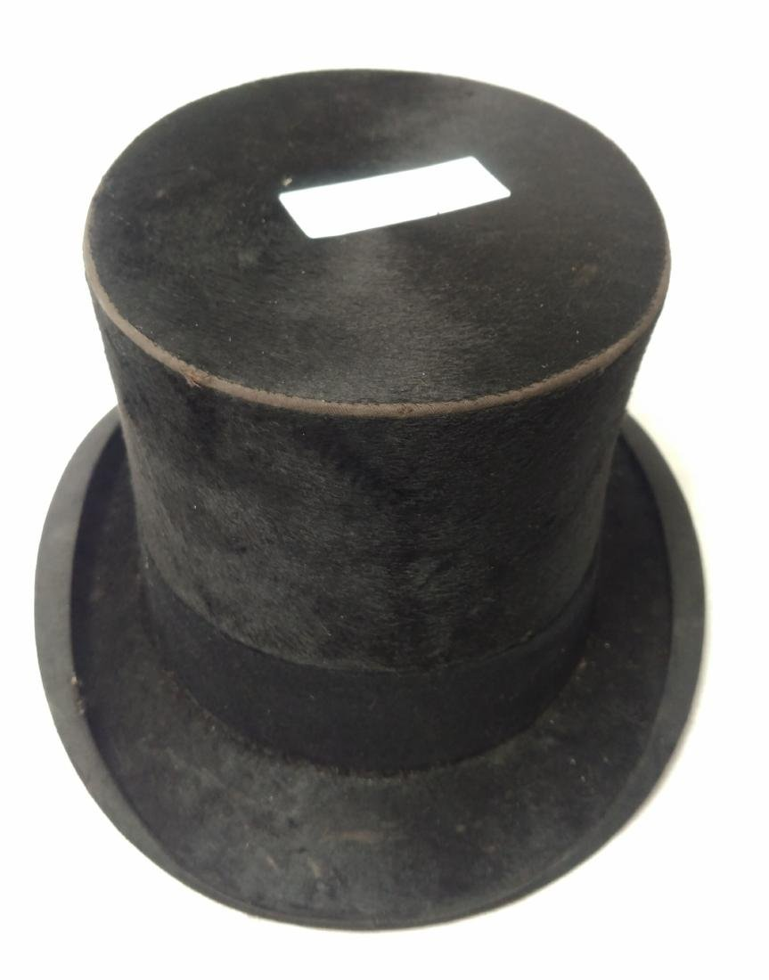 Antique Top Hat & Unusual Cane - 2