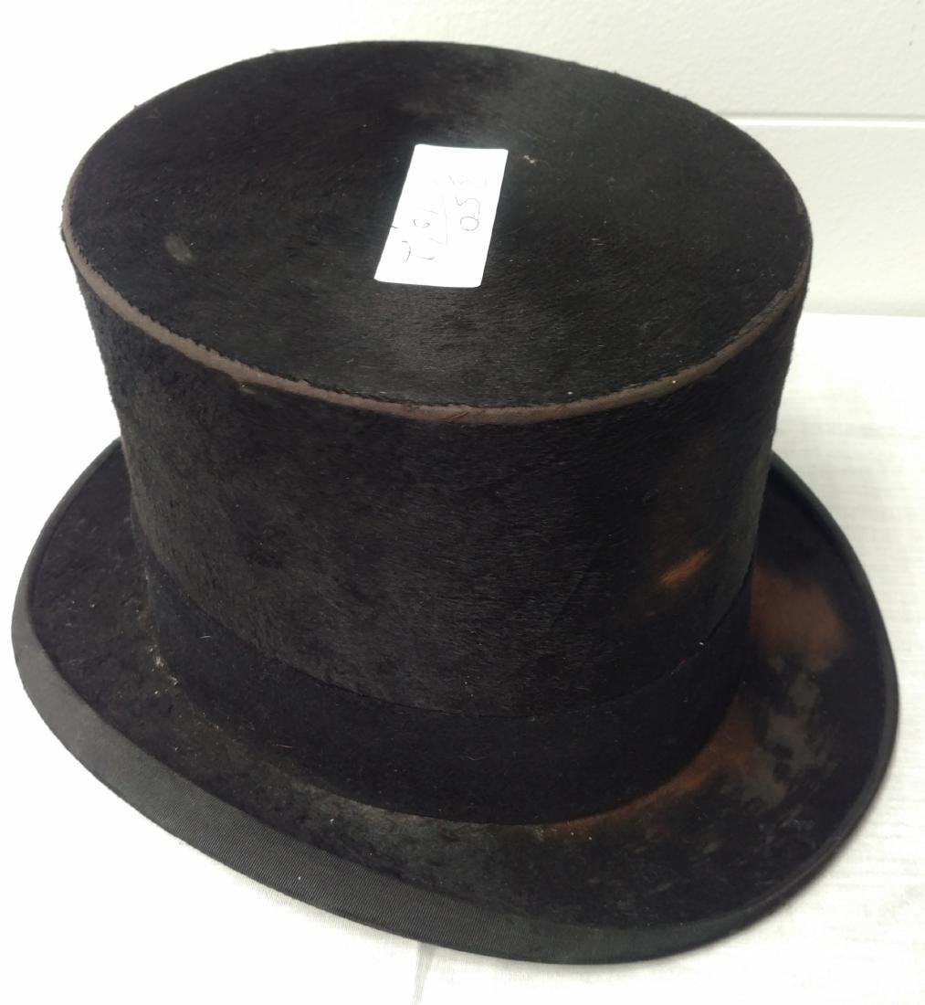 Antique Top Hat & Unusual Cane - 4