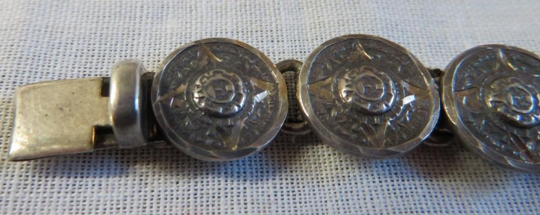 Antique Mexican Link Bracelet - 3