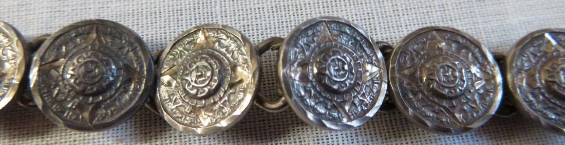 Antique Mexican Link Bracelet - 6