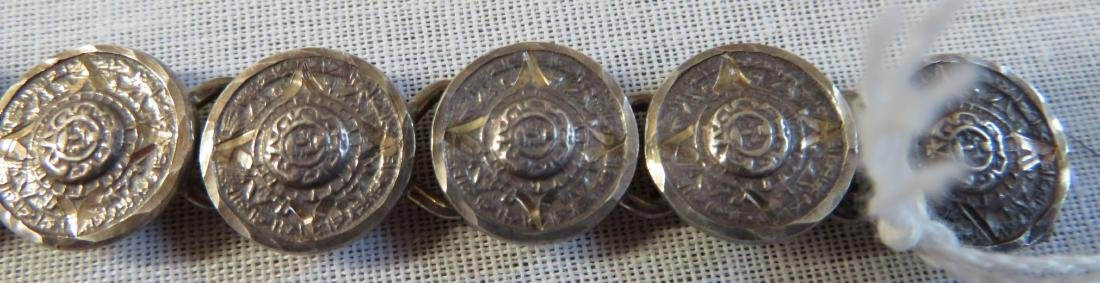Antique Mexican Link Bracelet - 7