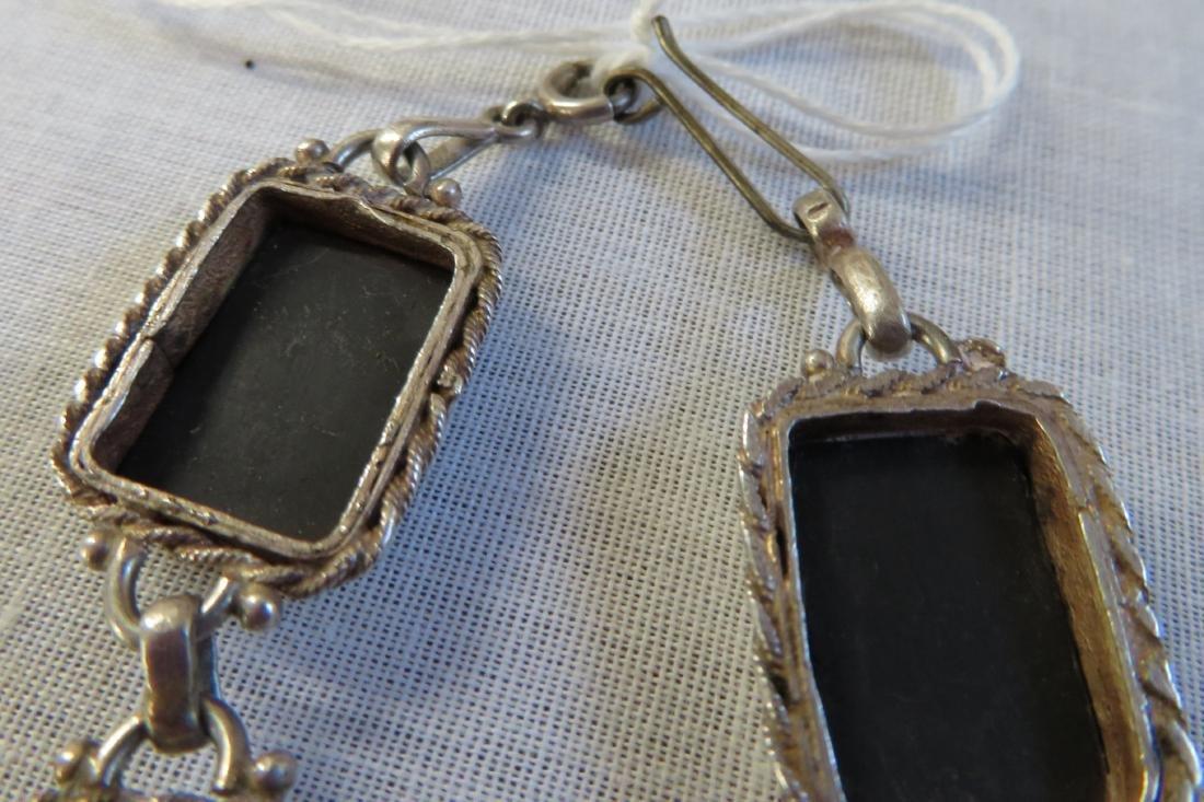 Mexican Handmade Sterling & Stone Link Bracelet - 6