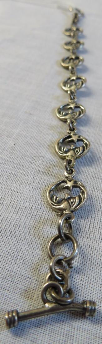 Mexican Sterling Silver Link Bracelet - 2