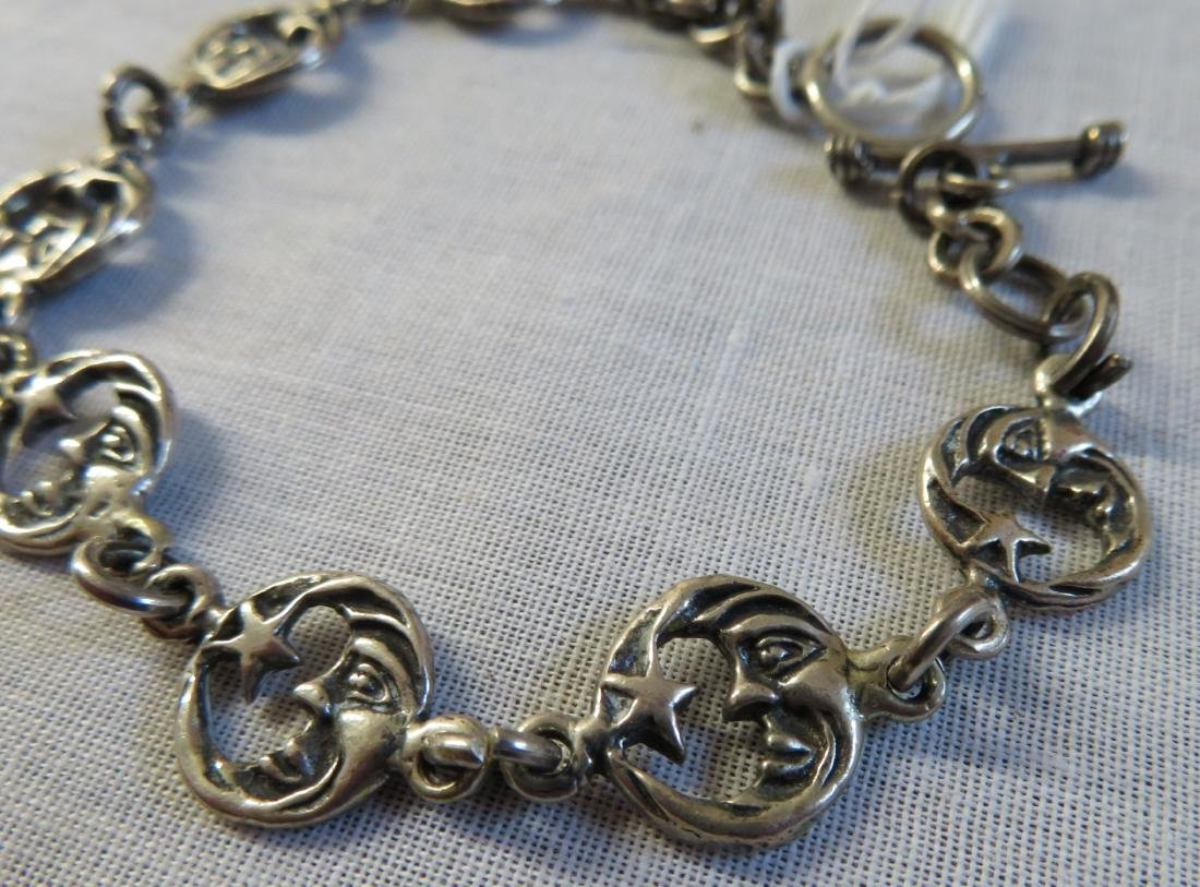 Mexican Sterling Silver Link Bracelet - 3
