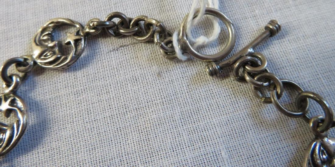 Mexican Sterling Silver Link Bracelet - 4
