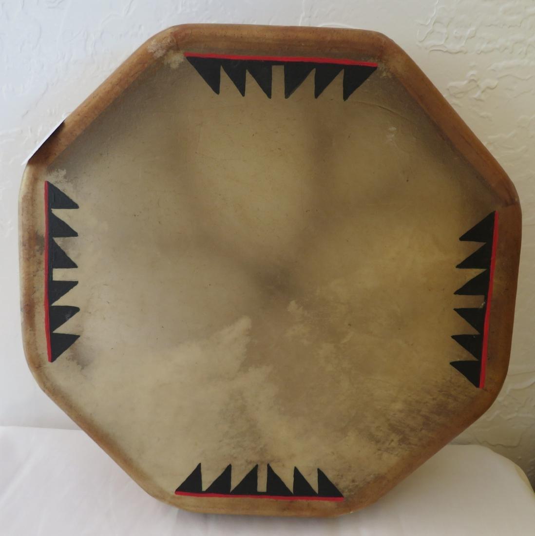 Plains Indian Drum w/Beater - 4