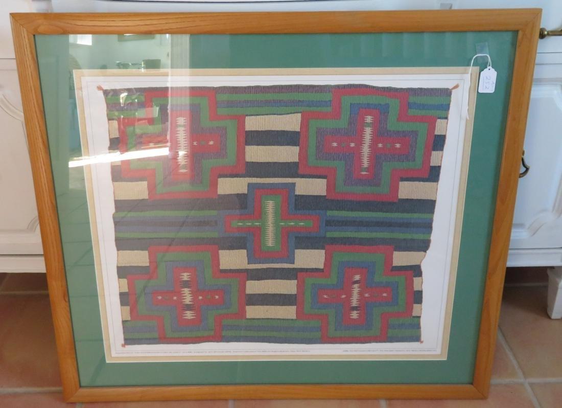Framed Seriagraph Navajo Germantown Chiefs Blanket