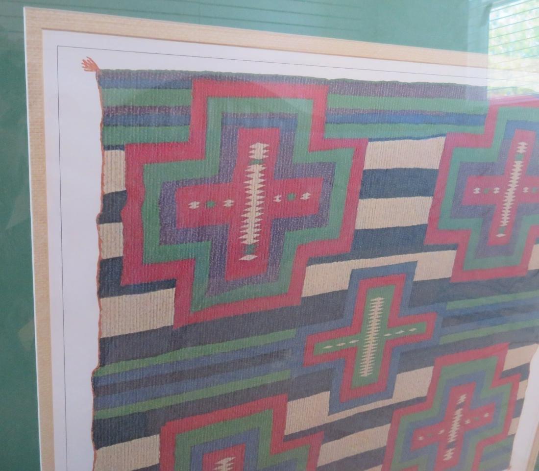 Framed Seriagraph Navajo Germantown Chiefs Blanket - 6