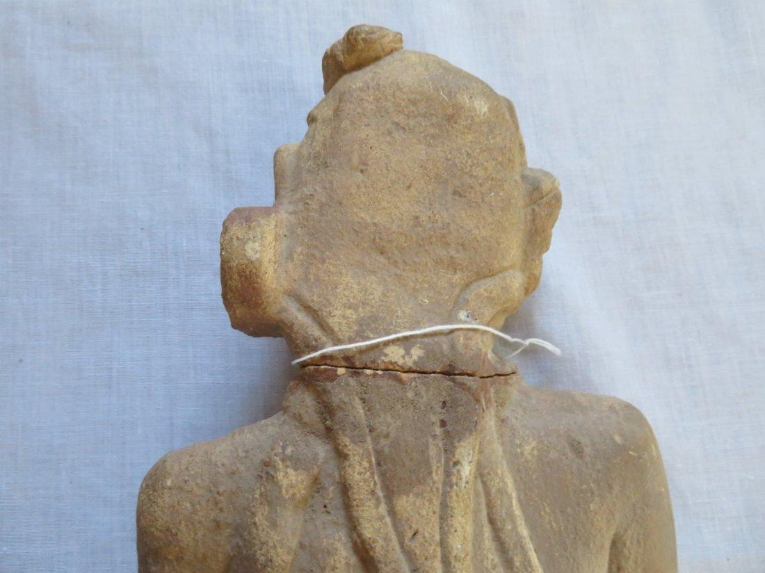 Standing Human Effigy Burial Figure - 8