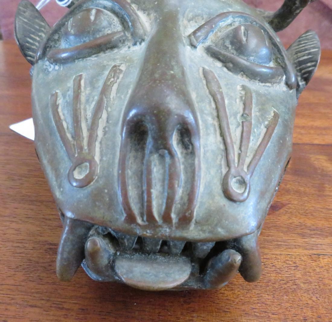 Benin Cat Bronze - 4