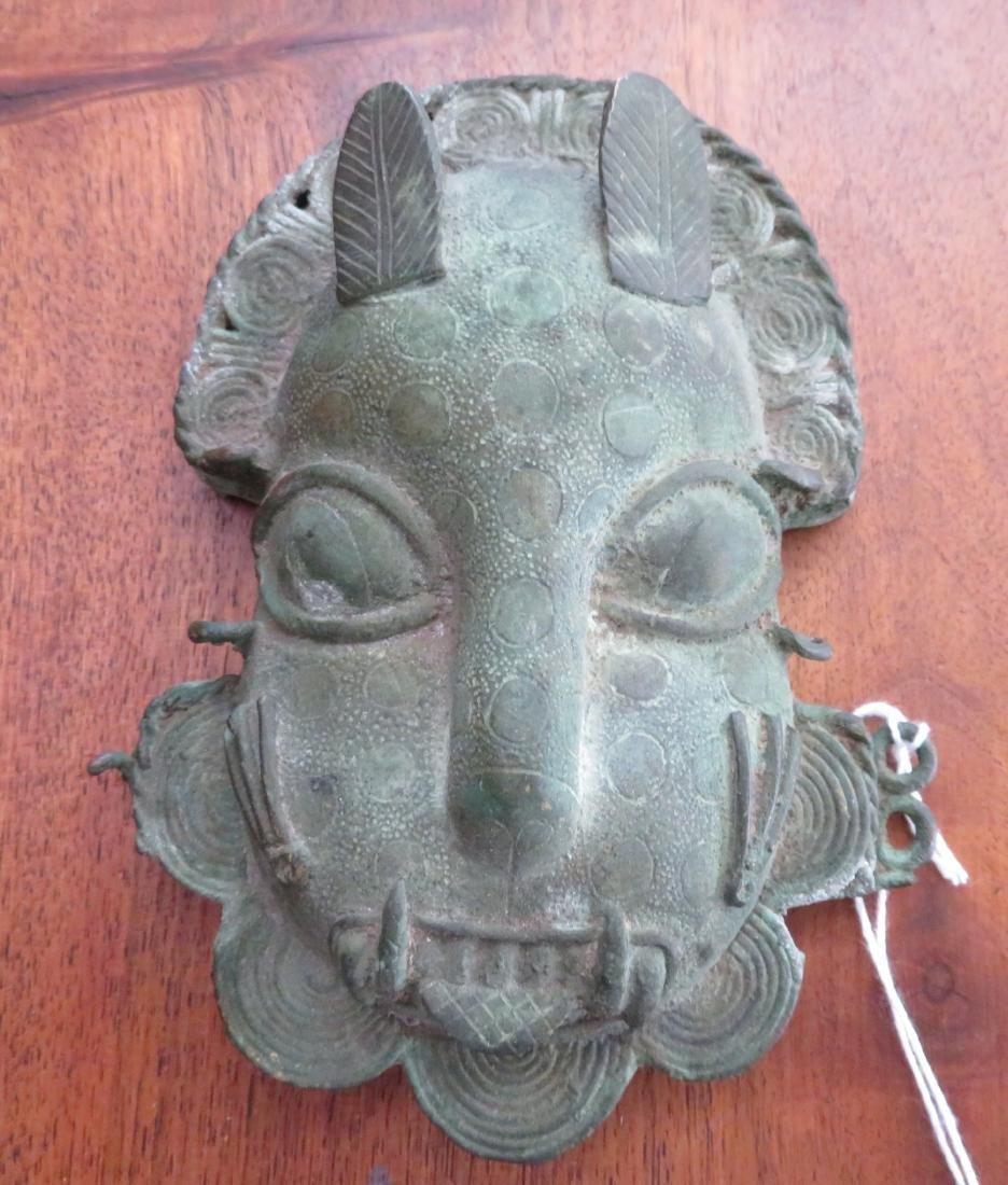 Benin Bronze Cat Mask