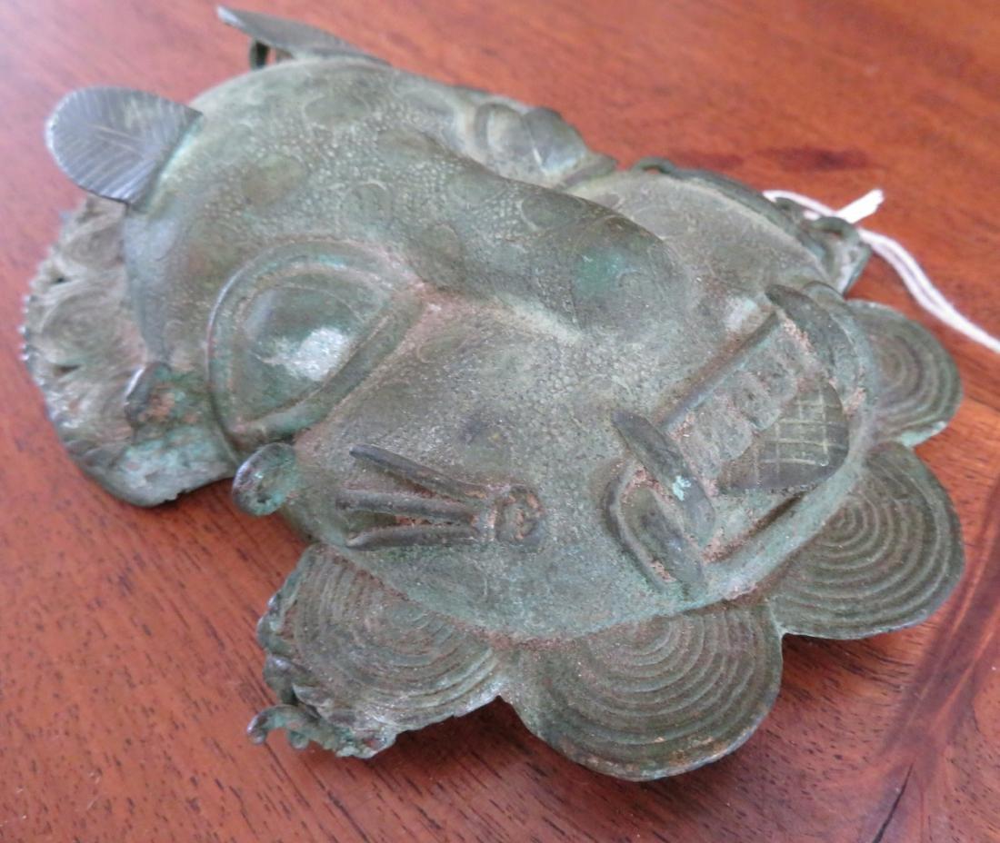 Benin Bronze Cat Mask - 6