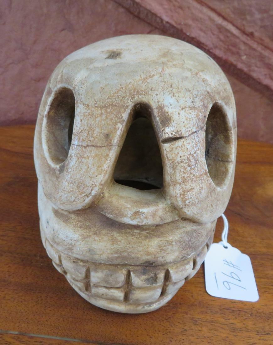 Aztec Stone Skull