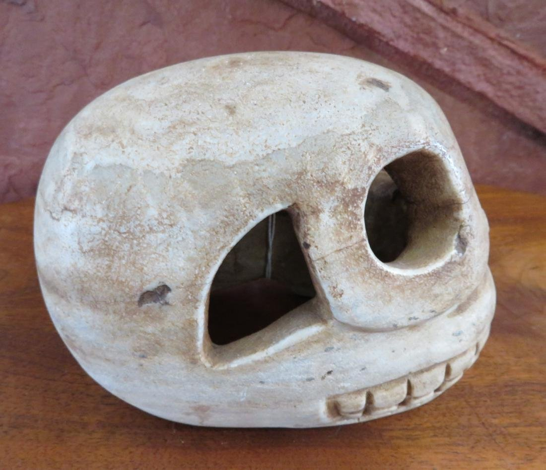 Aztec Stone Skull - 3