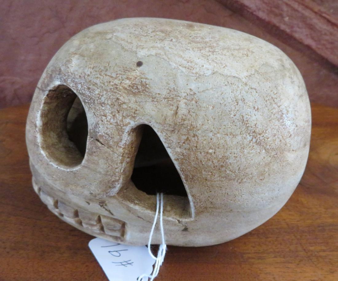 Aztec Stone Skull - 5