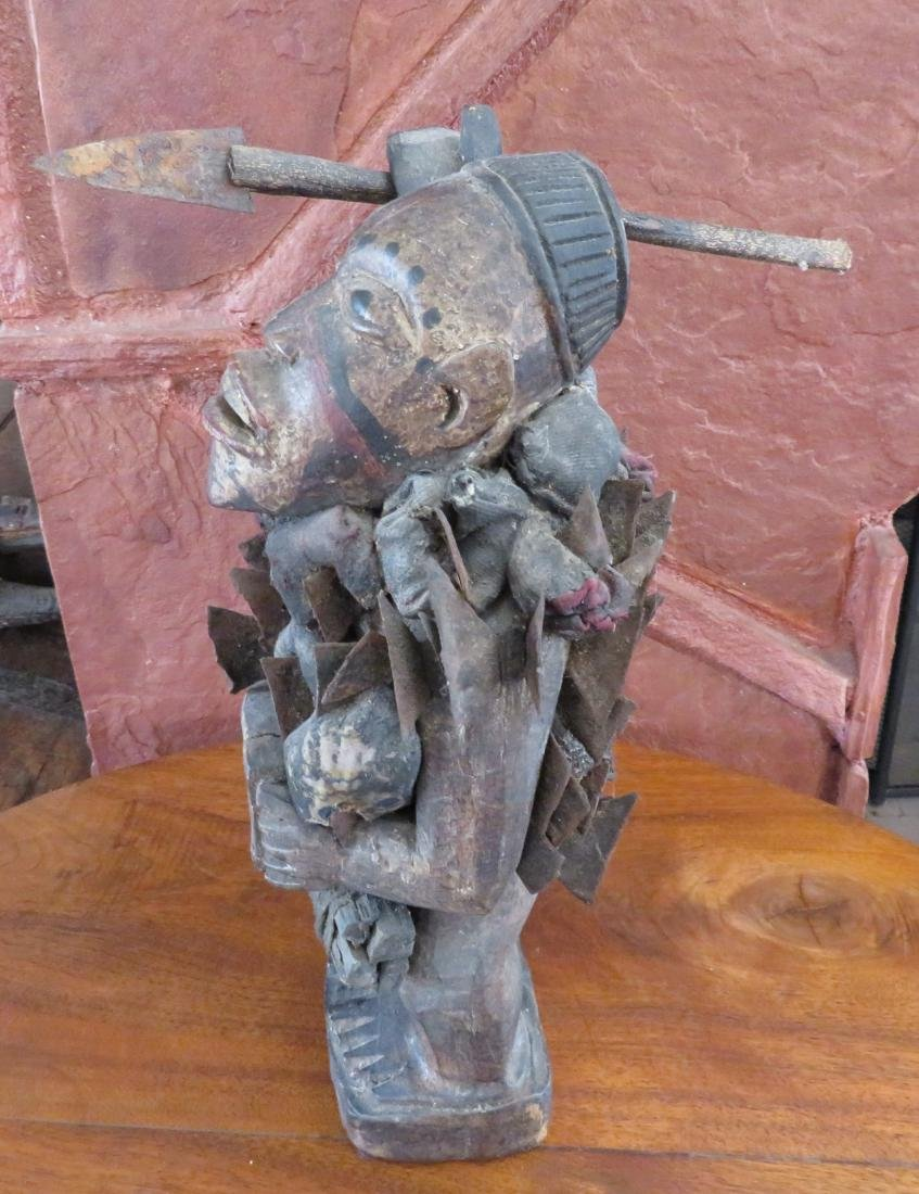 African Fetish Figure w/Spear - 5