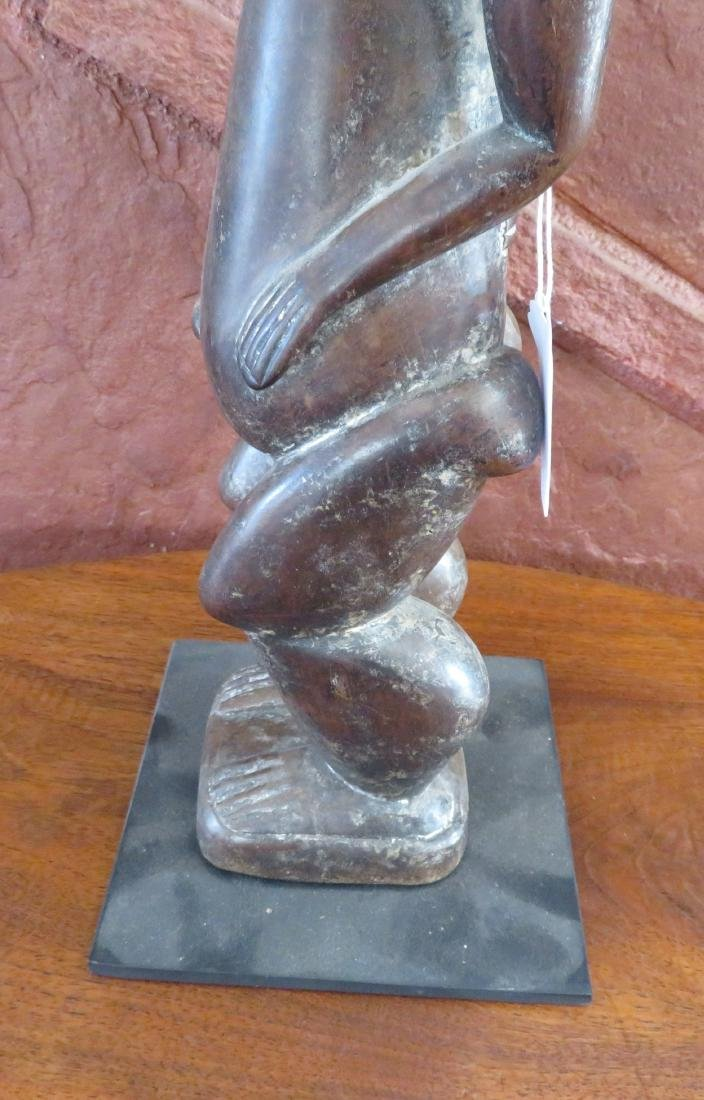 Standing Baule Female Figure on Stand - 7