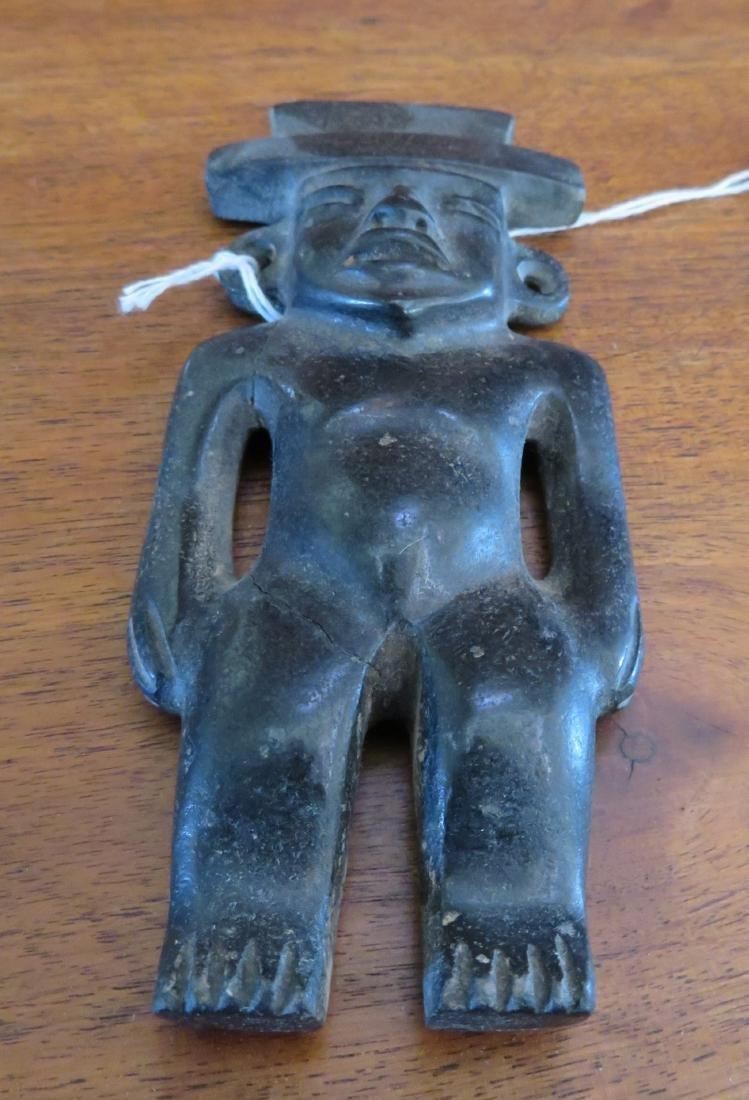 Teotihuacan Basalt Figure - 3