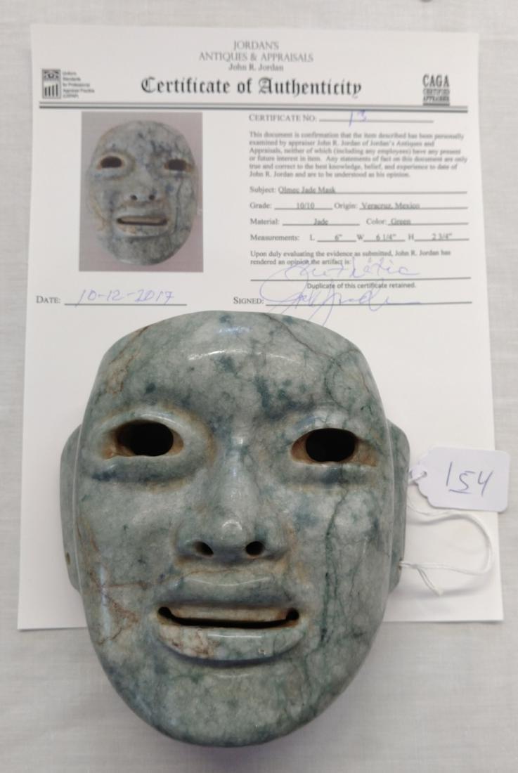 Olmec Jade Mask w/John Jordan COA