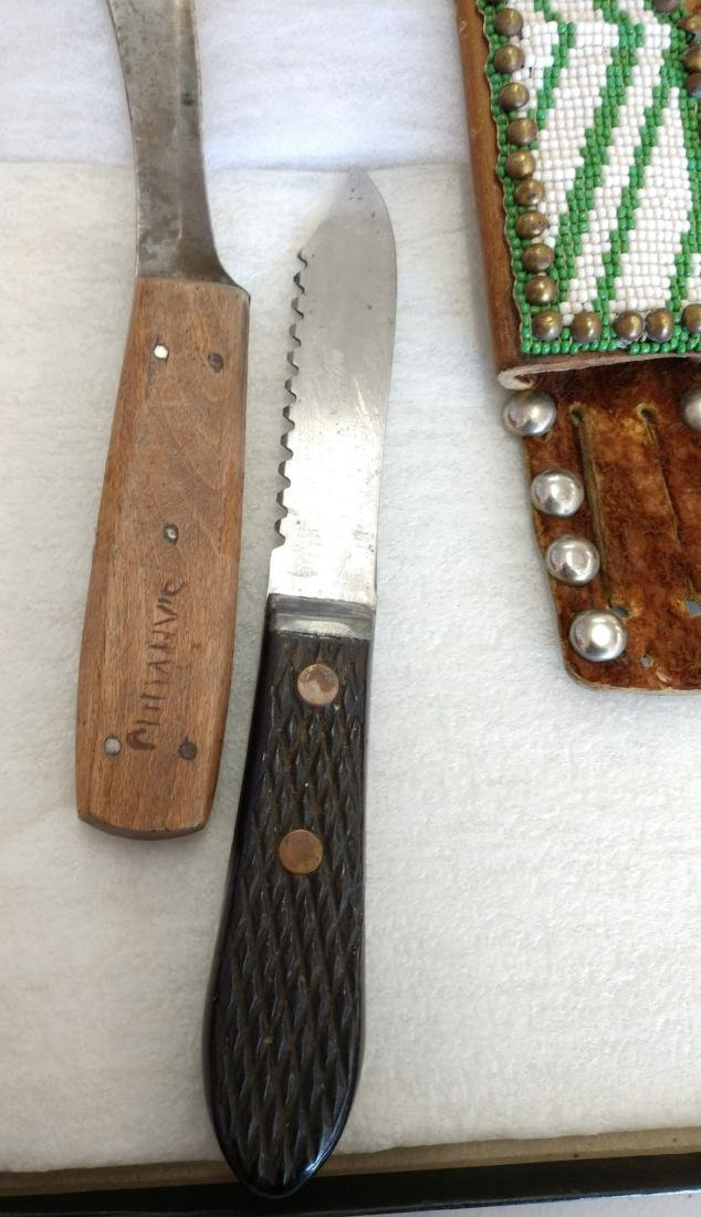 Beaded Knife Sheath & Knives - 2