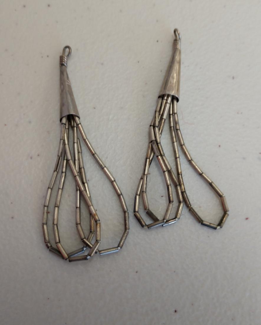 Liquid Silver Necklace w/Earrings - 2