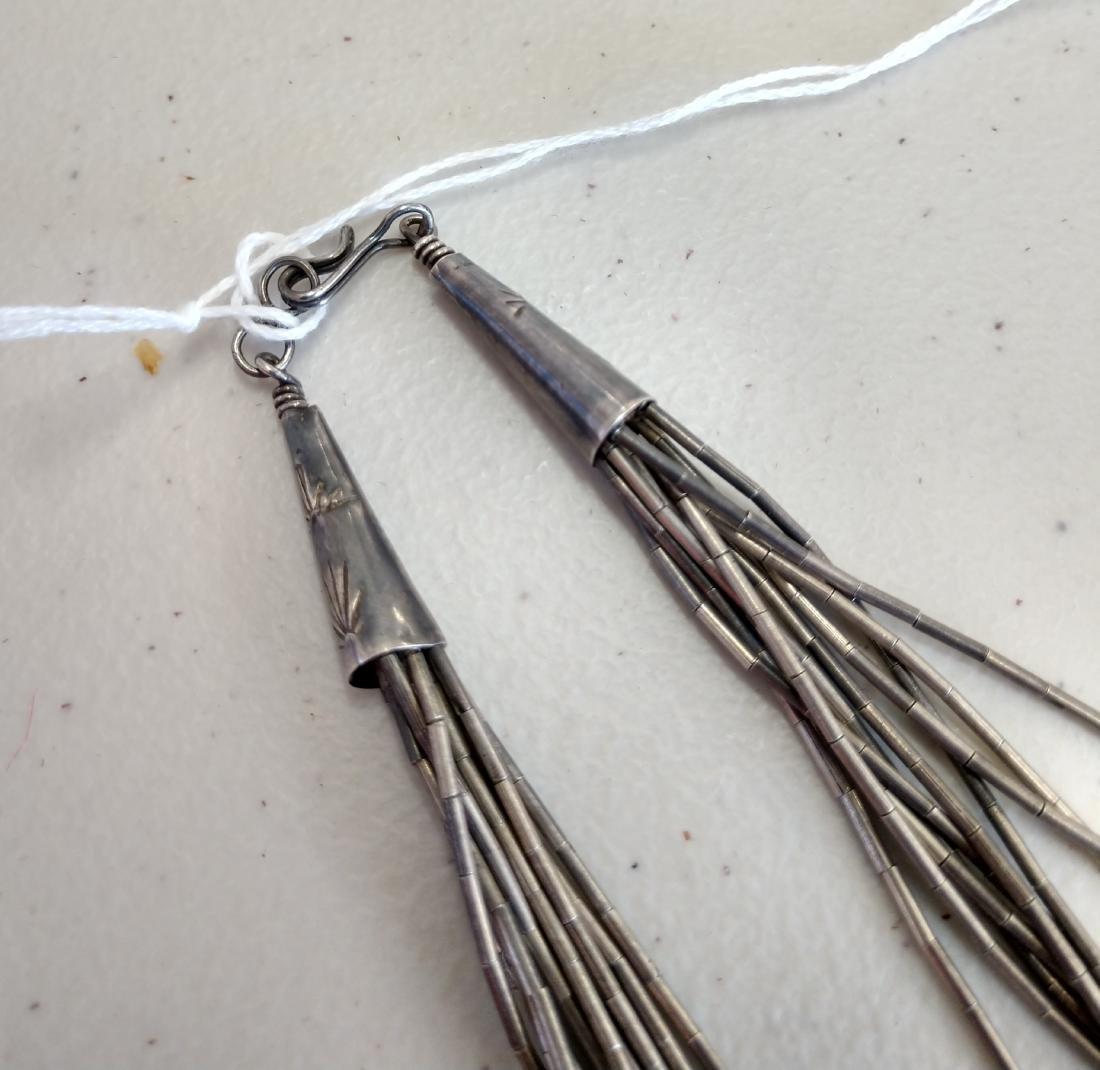 Liquid Silver Necklace w/Earrings - 3