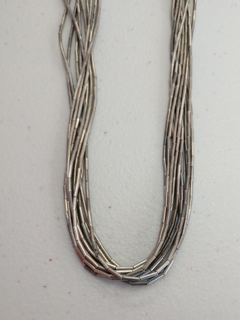 Liquid Silver Necklace w/Earrings - 5