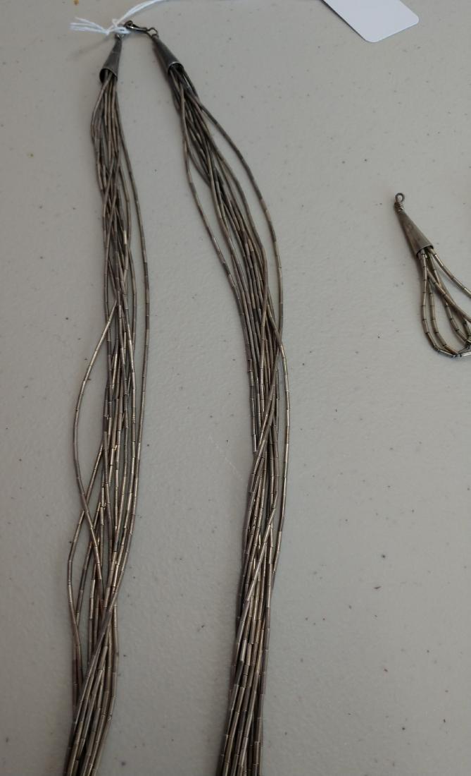 Liquid Silver Necklace w/Earrings - 6